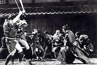 toshiro mifine, ronin, yojumbo, sanjuro, the fight between gangs, directed by kurosawa
