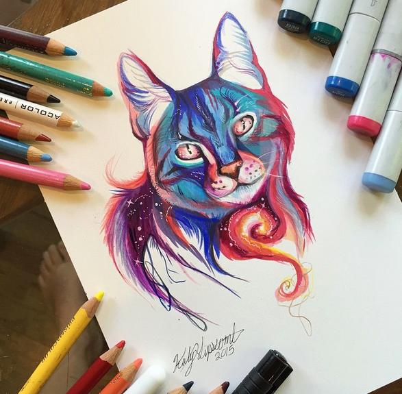 gambar keren kreatif dan menarik dengan menggunakan pensil warna-7