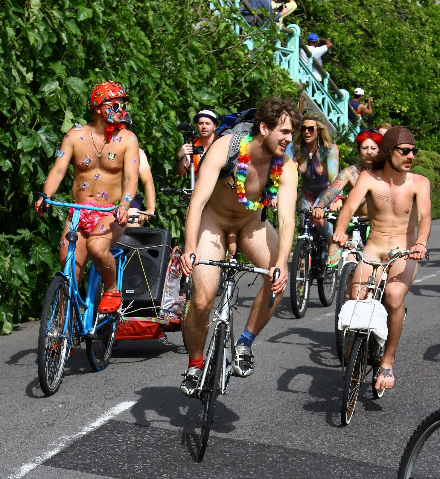 Naked bike ride stock photos and royalty