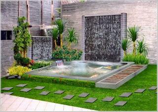 koleksi taman rumah minimalis dengan kolam ikan