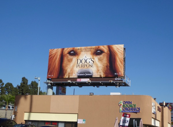 Dogs Purpose movie billboard