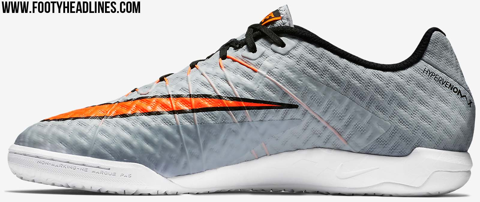 release date: 0a878 ecb86 ... tf orange grey black The Nike Hypervenom X Finale Indoor Football Shoes  feature an ultra-thin Wolf Grey NikeSkin .