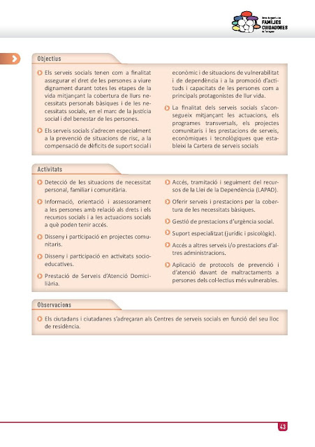 Xarxa de Suport a les Famílies Cuidadores de Tarragona: Institut Municipal de Serveis Socials de Tarragona: Informació