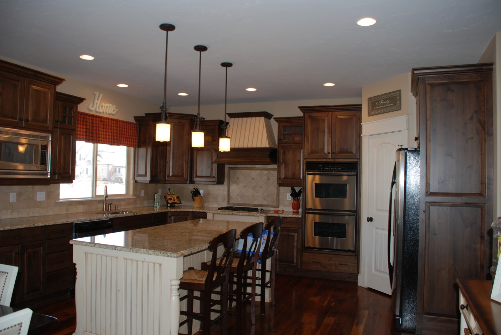While I Have Always Loved The Craftsmanship And Design Of My Cabinets Was Growing Tired How Dark Kitchen Felt Deep Color Knotty