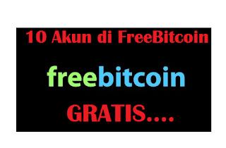 Trik bermain di FreeBitcoin dengan 10 Akun