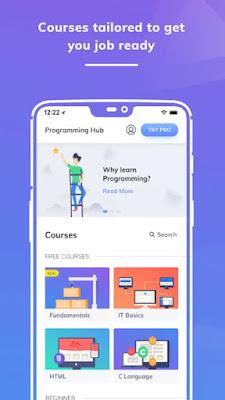 Programming Hub, Aplikasi Android Untuk Ngoding