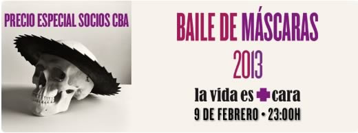 Baile de máscaras de carnaval en el Círculo de Bellas Artes