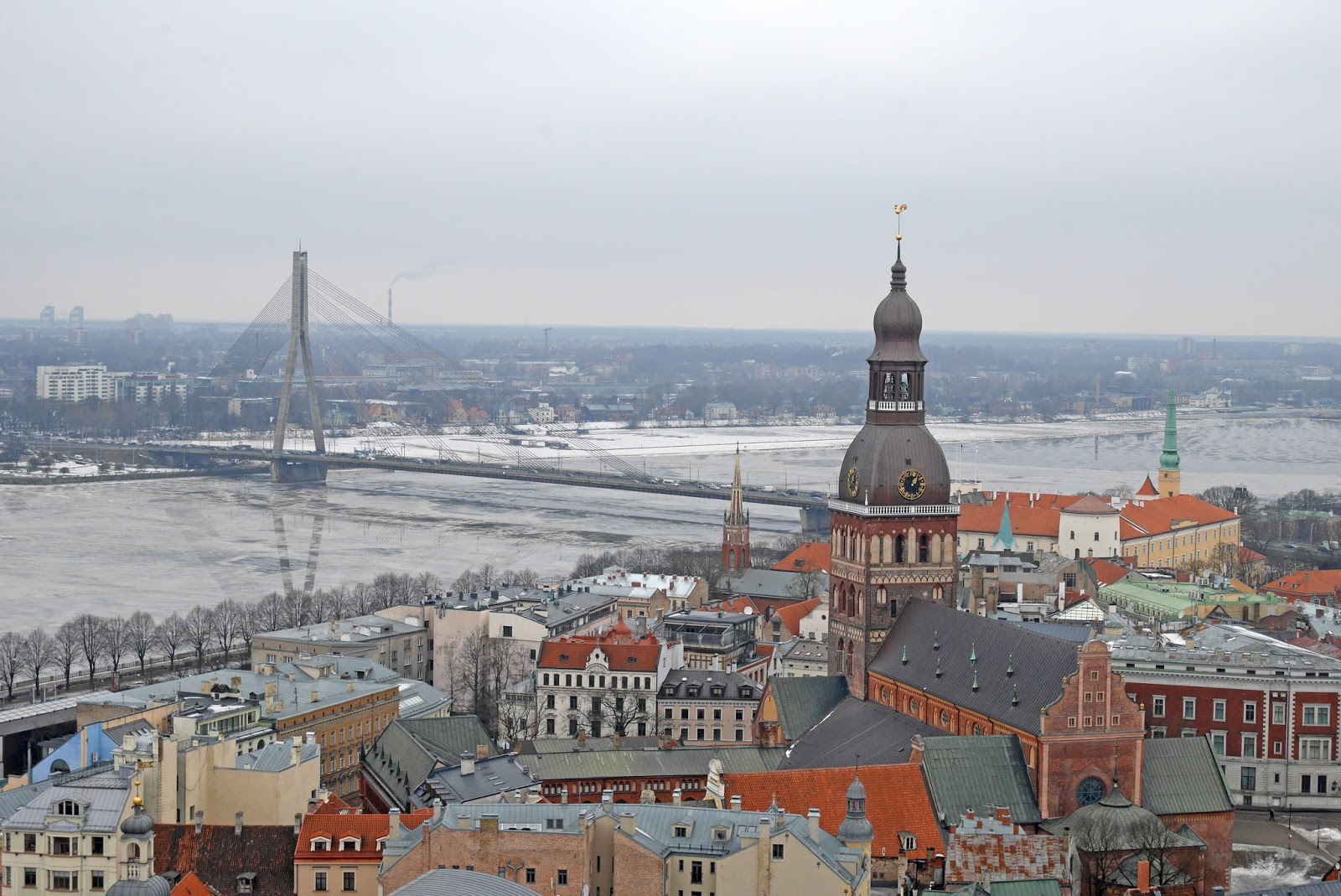 Riga skyline in Winter, Latvia