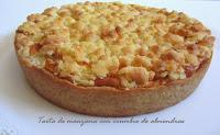 Tarta de manzana con crumble de almendras