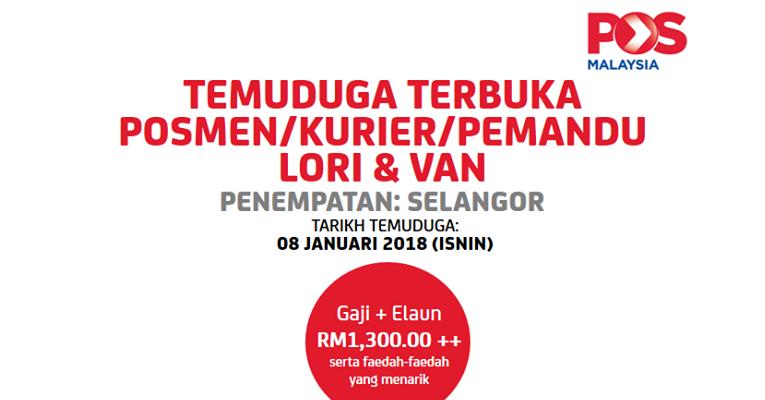 Temuduga Terbuka di POS Malaysia Berhad