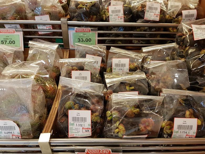在 Foodland 看到這個山竹與紅毛丹,都是超級便宜的價格