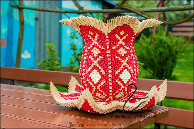 421. Wazon w kształcie kwiatu lotosu / 3d origami lotus flower vase