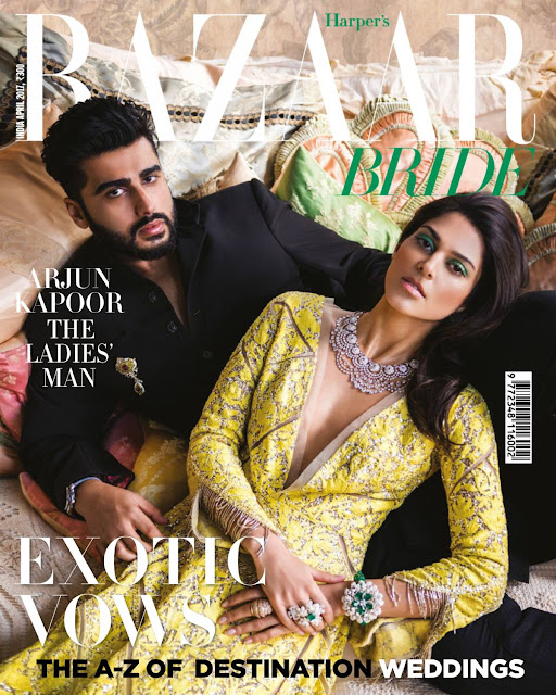 Arjun Kapoor On The Cover Of Harpers Bazaar Bride Magazine India April 2017