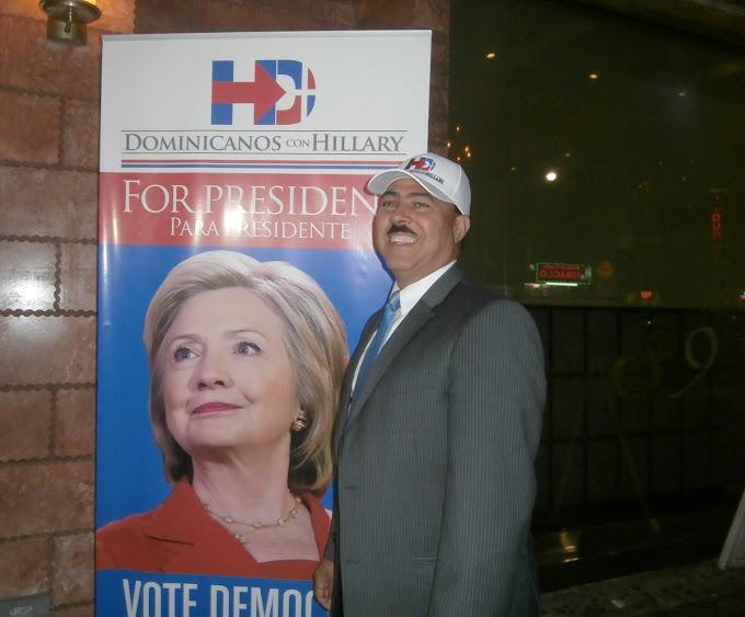 Polanco llama dominicanos votar masivamente por Hillary; afirma ganó segundo debate