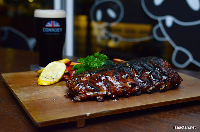 Barbeque CONNOR'S Honey Spare Ribs (RM90++ with 1 full pint of CONNOR'S Stout Porter)