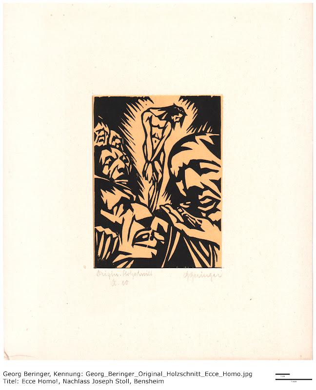 Holzschnitt Georg Beringer - Ecce Homo!, Nachlass Joseph Stoll, Bensheim