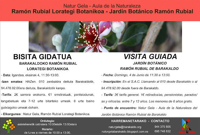 Cartel de la visita guiada al jardín botánico