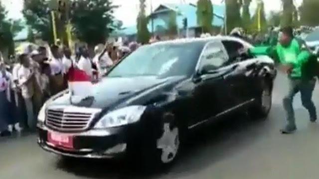 Video Viral! Seorang Driver Ojol Telah Menerobos Pengamanan Presiden Jokowi