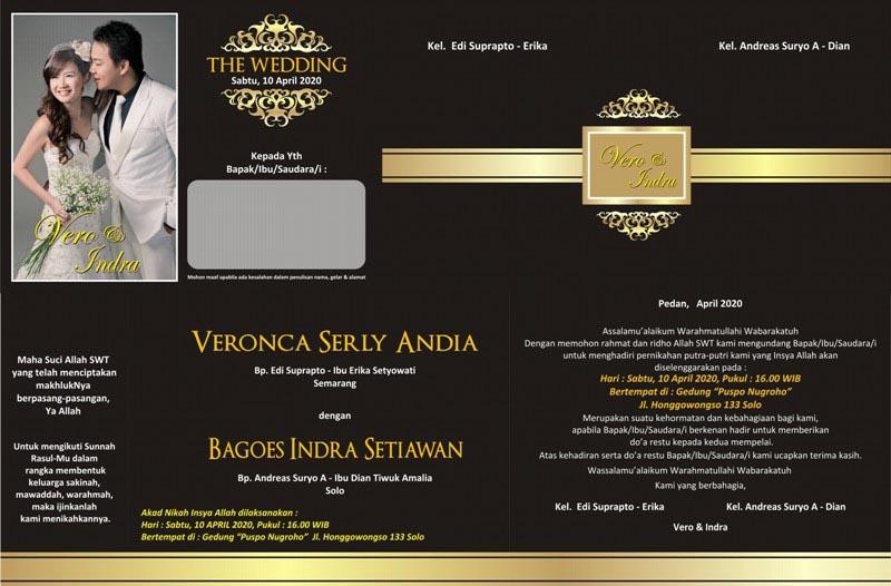 10 Contoh Desain Kartu Undangan Pernikahan | AZKA INVITATION