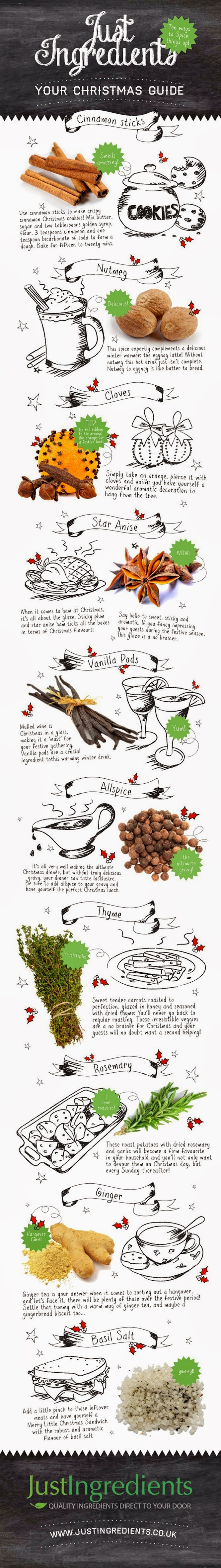 http://www.justingredients.co.uk/blog/10-ways-to-spice-up-christmas-infographic