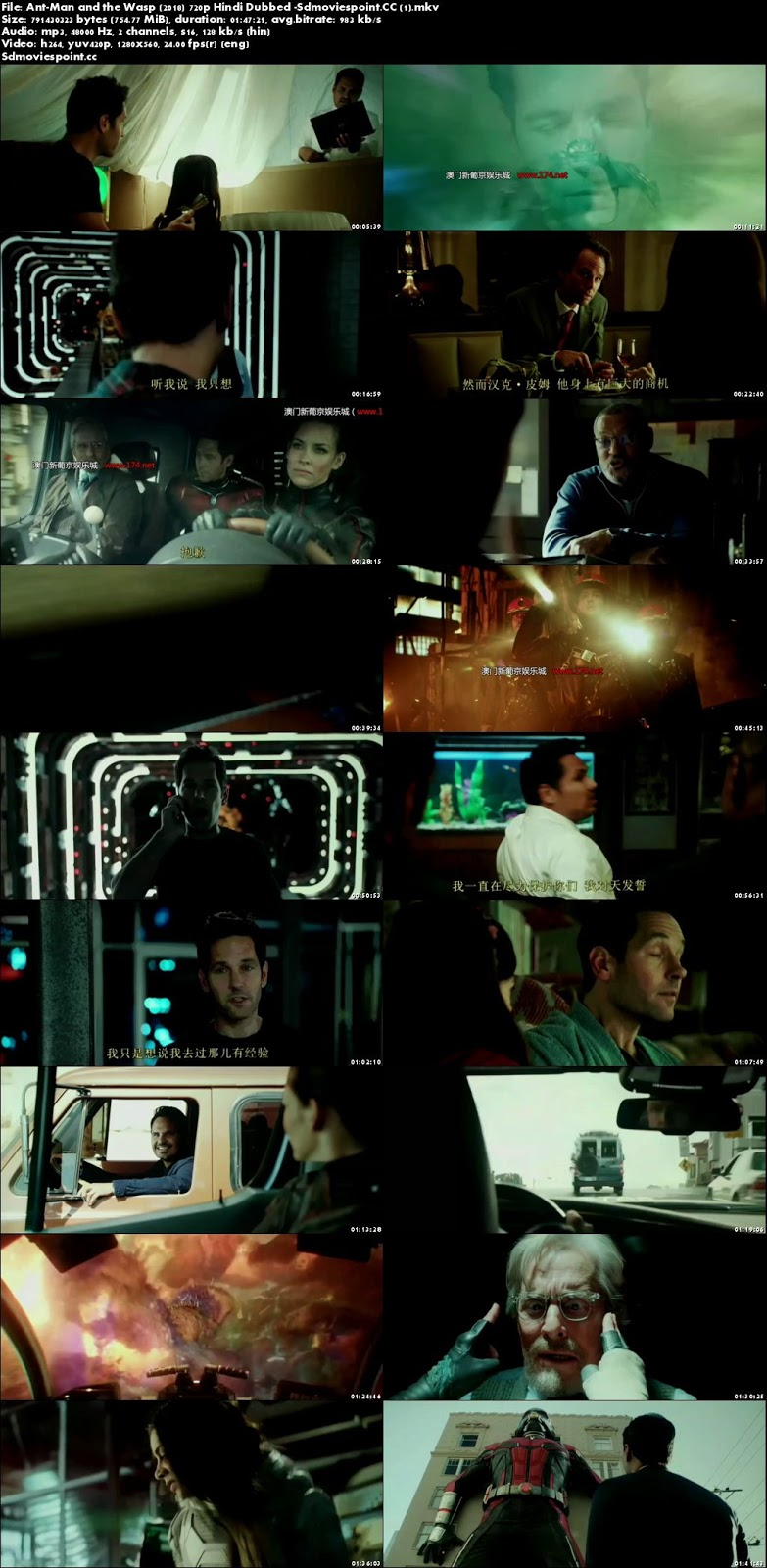 screen shot Ant-Man and the Wasp 2018 Dual Audio 720p BRRip 768Mb x264