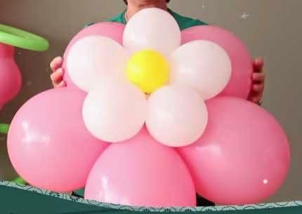 Recicla Inventa Como Hacer Flores Con Globos - Como-hacer-flores-de-globos