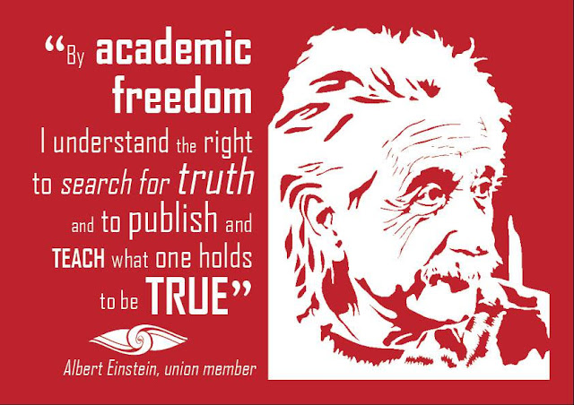 Albert Einstein on academic freedom