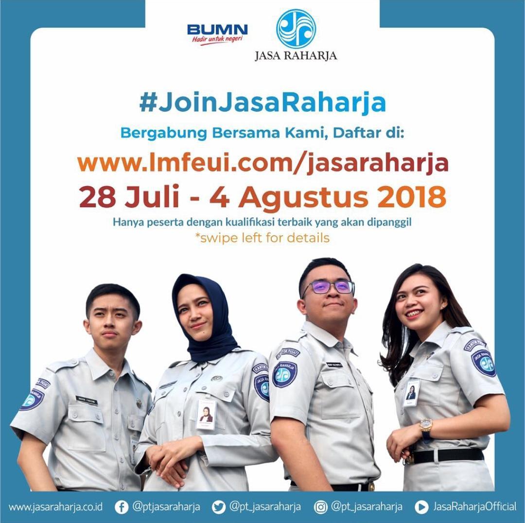 Lowongan Kerja PT. JASA RAHARJA 2018 Jasa 2Braharjaad