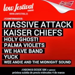 Massive Attack, Kaiser Chiefs y The Hives al Low Festival de Benidorm