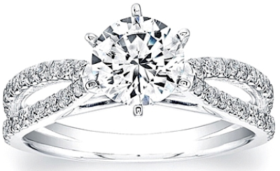 Coast Diamond split shank diamond engagement ring.