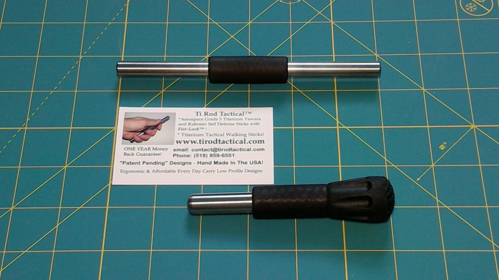 "Titanium 5/"" Pocket Carry Palm Cap Stick DOMED Tip Acupressure Tool"