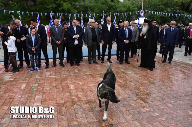 Ένας σκύλος στο Ναύπλιο έκλεψε την παράσταση στις επετειακές εκδηλώσεις για την 28η Οκτωβρίου