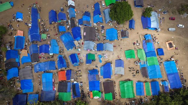 tenda darurat gempa lombok