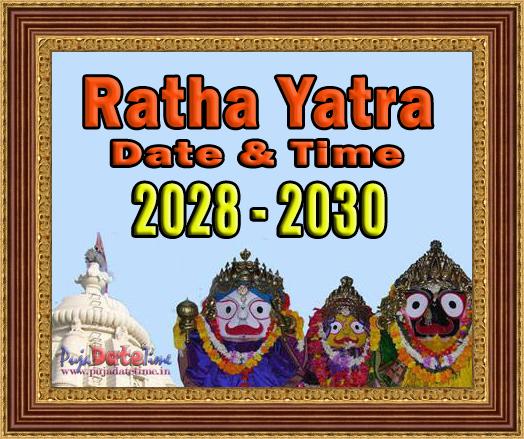 2017 to 2030 Ratha Yatra Date & Time in India