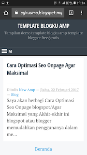 Blogku AMP template blogger gratis