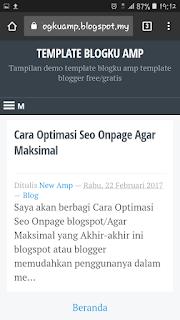 Blogku AMP template blogger gratis