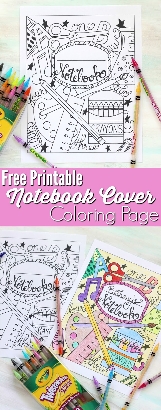 Book Cover Printable Zip : Back to school notebook cover printable coloring page
