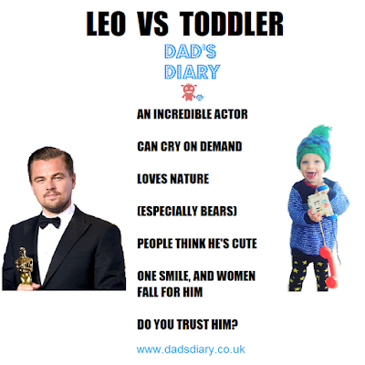 Leonardo di Caprio VS toddler - a comparison of things they have in common