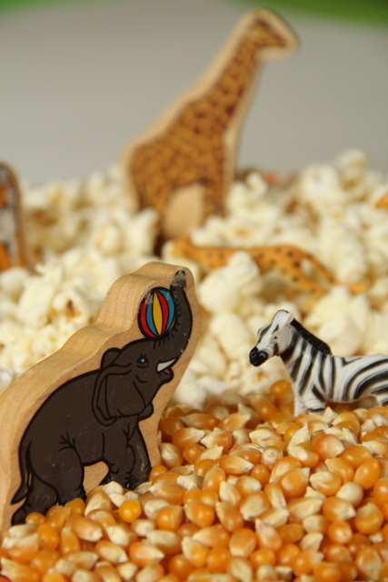 Kids will love to pretend and play while learning animal names and noises.