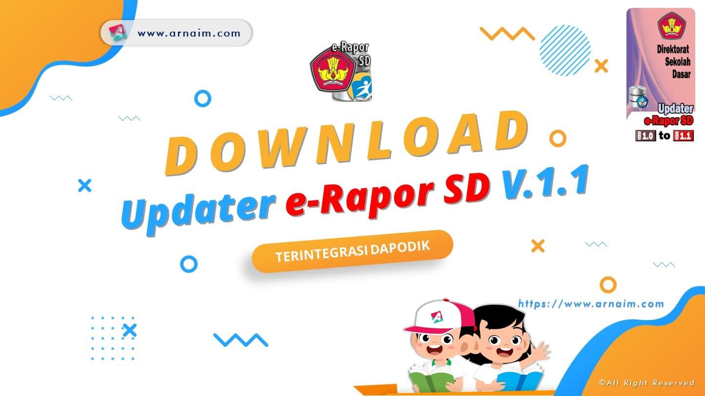 ARNAIM.COM - Download Updater e-Rapor SD V 1.1 Terintegrasi Dapodik