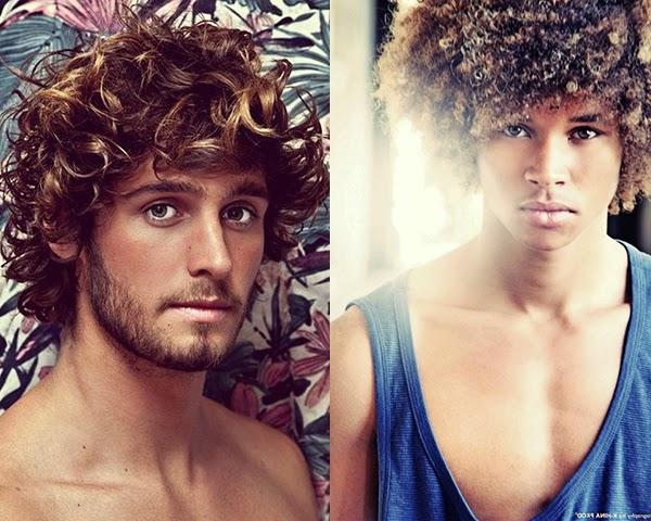 corte em cabelo cacheado masculino
