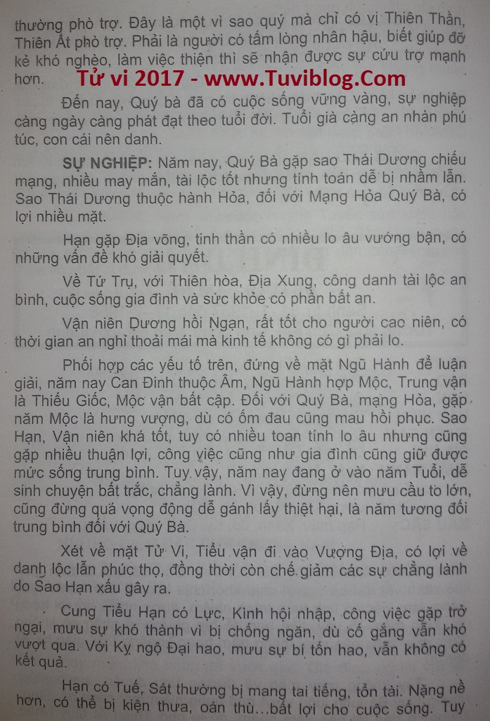 Tuoi Dinh Dau nu 2017