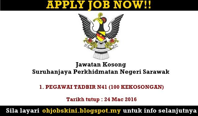 Jawatan Kosong Suruhanjaya Perkhidmatan Negeri Sarawak (SPA Sarawak)