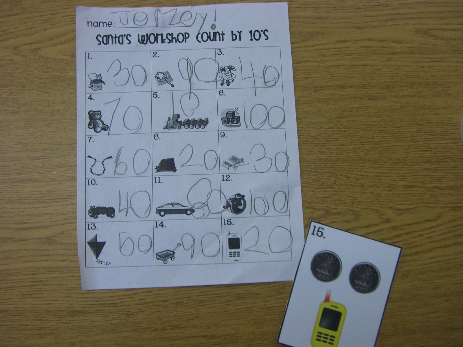 First Grade Garden Math Stations 3