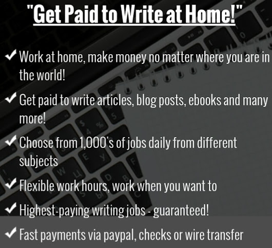 get paid for writing How to become a paid writer  with patience, perseverance, and quality writing, you can get paid for doing the writing that you love steps method 1 getting prepared 1 determine your writing strengths before you begin seeking writing jobs, you should have a solid idea of what you write well there are many different styles of writing.