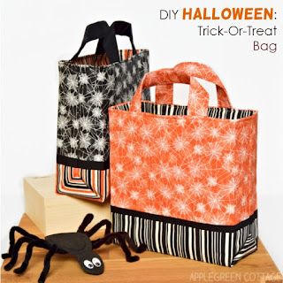 Halloween trick-or-treat bag pattern