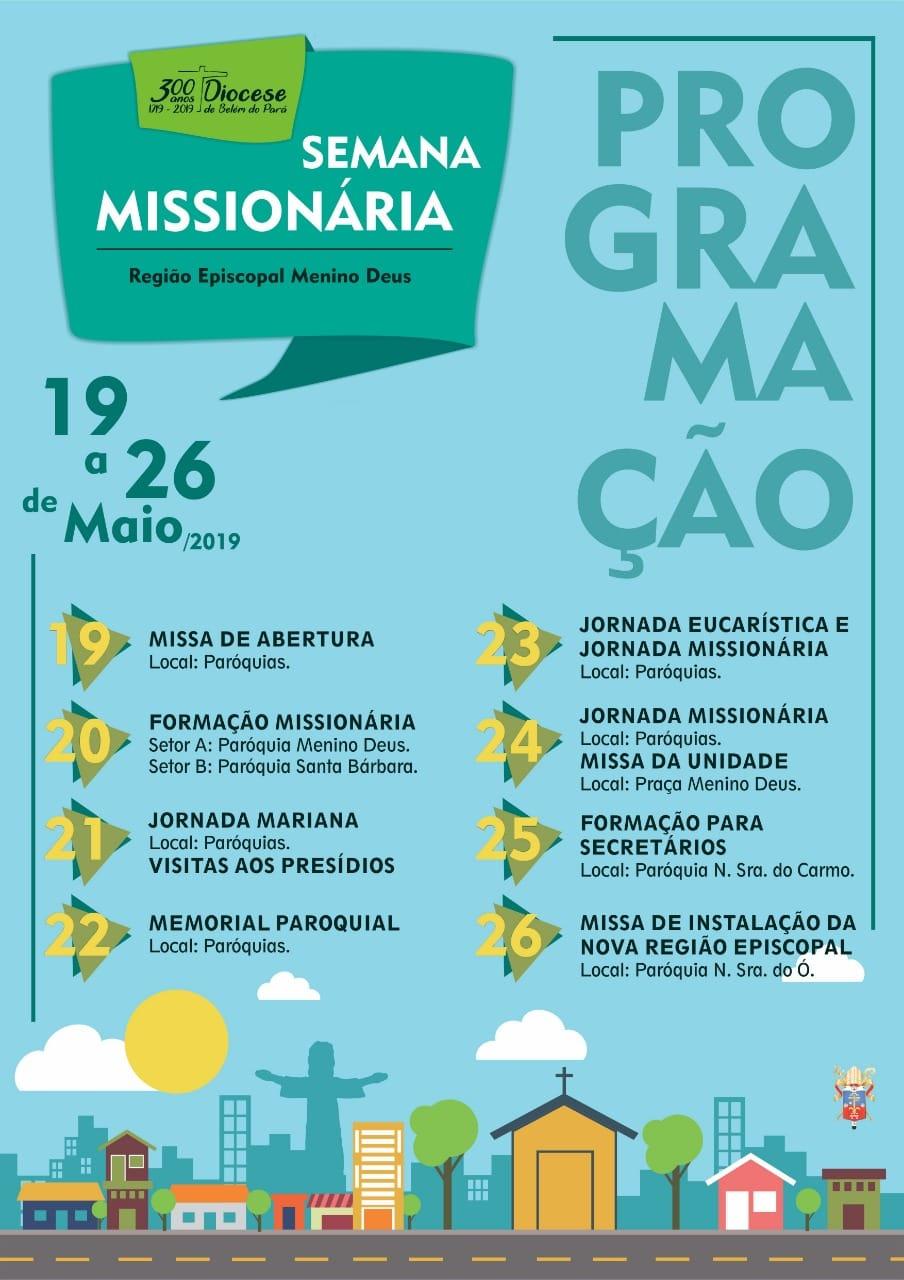 semana missionaria arquidiocese de belém