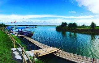 Laguna pantai glagah, tempat menikmati pemandangan pantai glagah