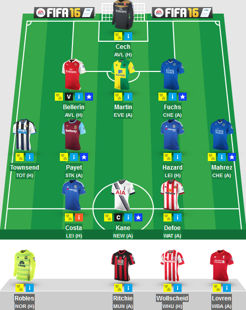 The Blogger's Team for Gameweek 38 in Fantasy Premier League