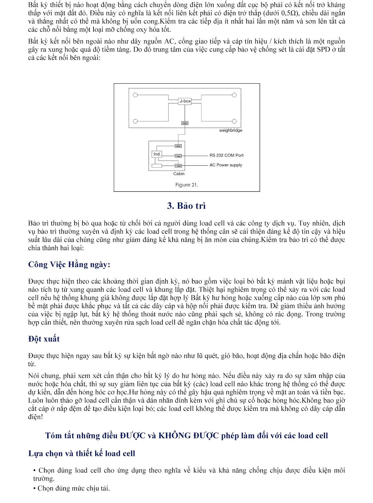 Lưu ý kỹ thuật về Load cell và module cân điện tử (tt) 16